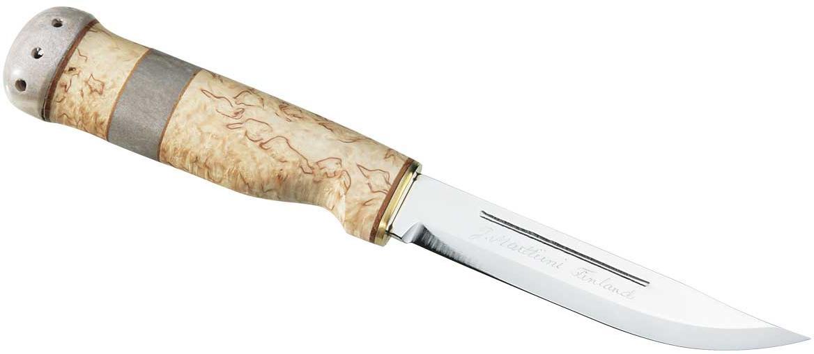 Jagdmesser, Sammleredition, rostfrei, Birkenholz